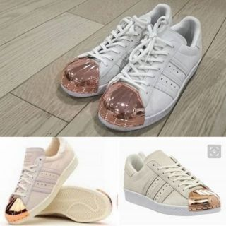 on sale c5dbc 80085 Adidas superstar 80's metal toe (offwhite/rose gold) trainer shoes