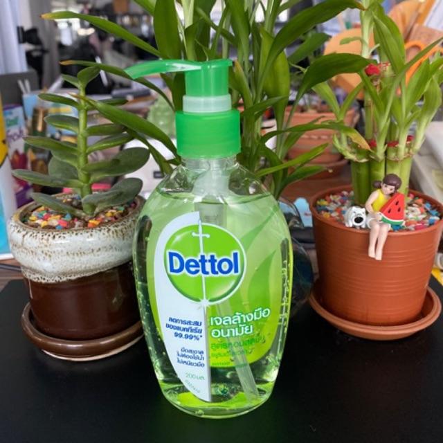 Dettol เจลล้างมืออนามัย สูตรหอมสดชื่นผสมอโลเวล่า