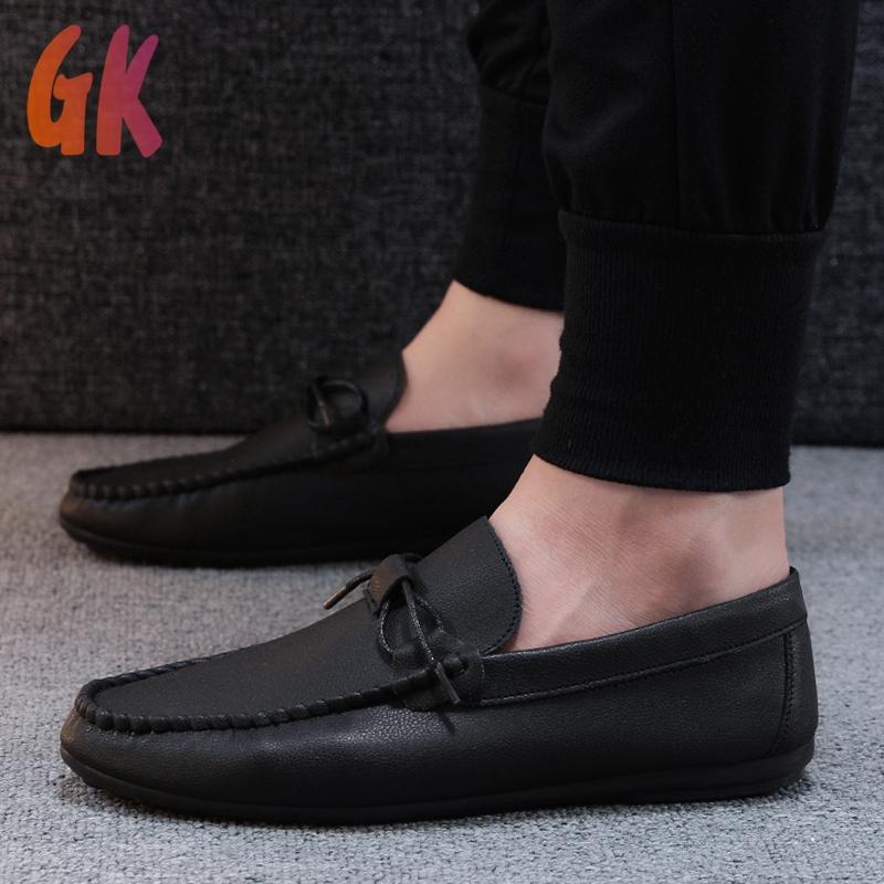 Gkd✔ รองเท้าโลฟเฟอร์หนัง สีดำ สำหรับผู้ชาย รองเท้าคัชชู ผู้ชาย 39-44