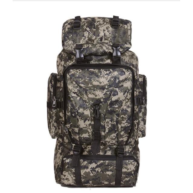 กระเป๋าแบ็คแพ็ค กระเป๋าเดินป่า EVEVEME 90L โหลดกันน้ำกระเป๋าเป้สะพายหลังกระเป๋าเดินทางกลางแจ้งเดินป่าตั้งแคมป์