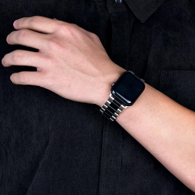☢웃สายนาฬิกา smartwatchสายนาฬิกา gshockสายนาฬิกา applewatchบังคับแอปเปิ้ลสายนาฬิกาapplewatchสายรัดโซ่ที่เรียบง่าย5รุ่นโซ่