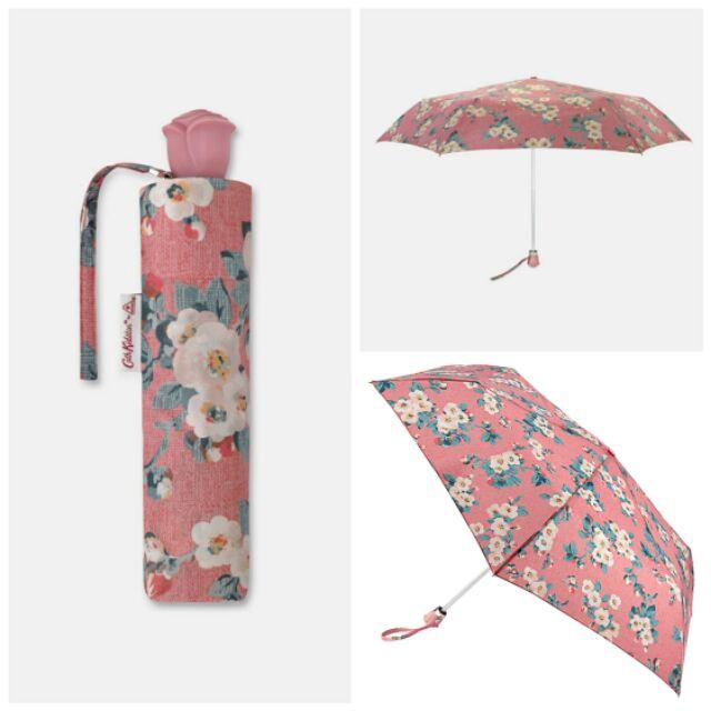 ร่มพับ Cath Kidston กันยูวี สีชมพู ลายดอกไม้ [ UV UPF 50+ ]