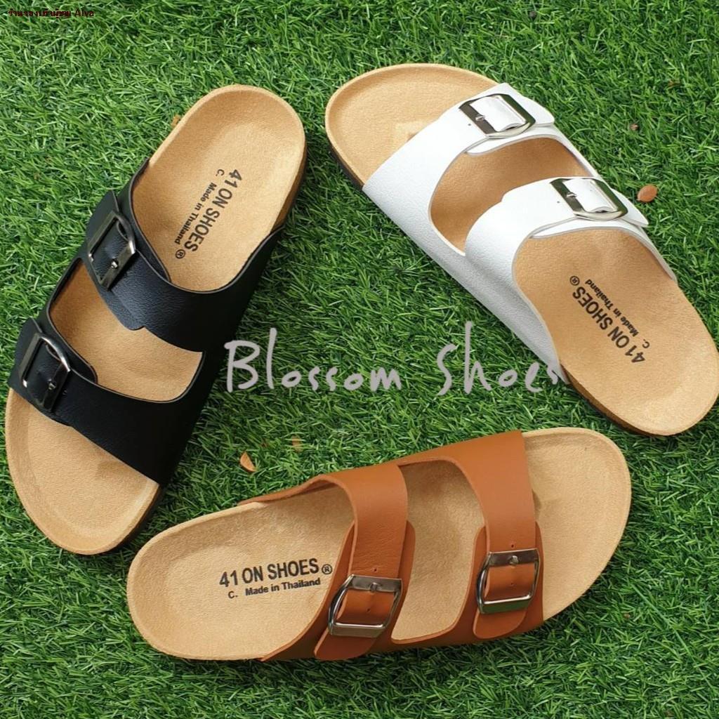 ร้านรองเท้าผู้ชาย Alva--❃ไซส์ใหญ่ 41-43 รองเท้าแตะ ฺBikenStock 1Step /2step  สายปรับระดับได้