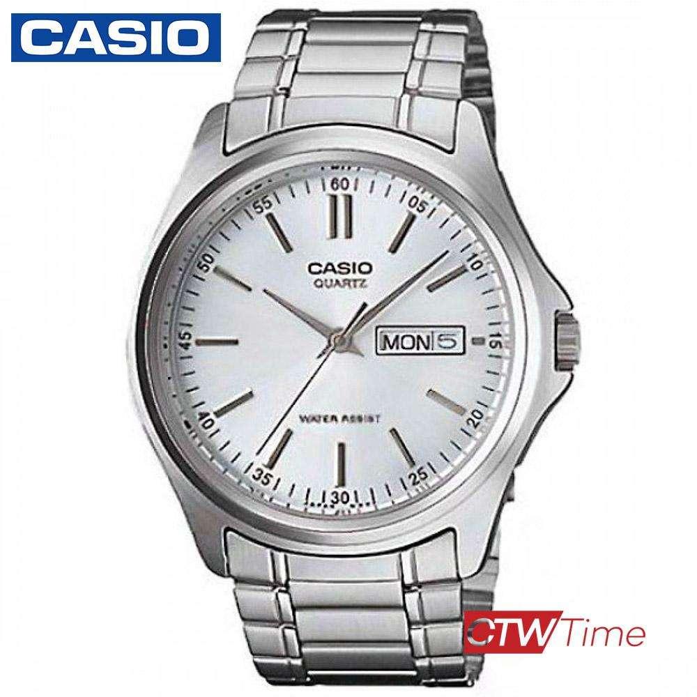 ส่งฟรี !! Casio Standard นาฬิกาข้อมือสุภาพบุรุษ สายสแตนเลส รุ่น MTP-1239D-7ADF - Silver