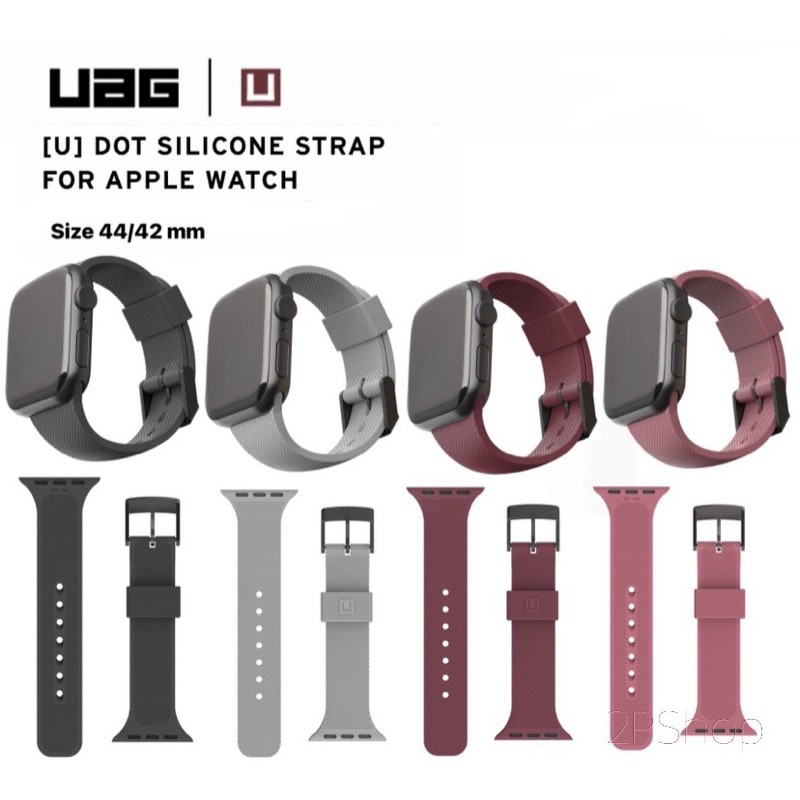 ✸UAG (U) Dot Silicone Strap For Applewatch Series 6/5/4/3/2/1/SE Size 42/44
