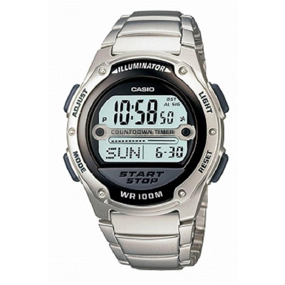 Casio standard นาฬิกาข้อมือผู้ชาย สายสแตนเลส y รุ่น W-756D-1AV - Silver