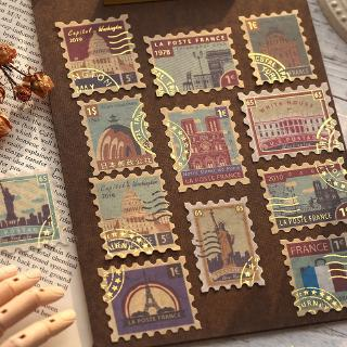 Review Mohamm Poem and Dream Series Stamp Gilded Sticker Letter Sticker Scrapbooking Gift Girl School Supplies