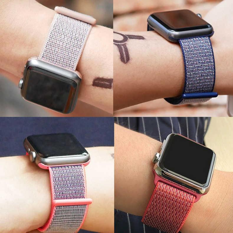 💥 สาย applewatch 🔥 สายไนลอน Applewatch Apple Watch se สาย S6 ห่วงไนลอนเหมาะสำหรับรุ่น iwatch6 / 5/4/3/2/1