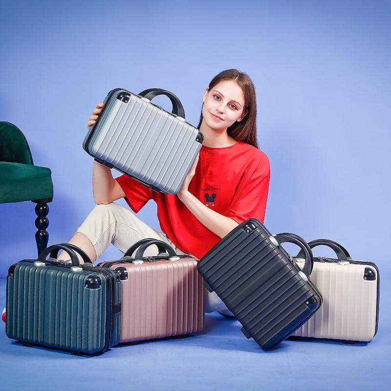 กระเป๋าเดินทางกระเป๋าเดินทางขนาดเล็กหญิงกระเป๋าเครื่องสำอางน่ารัก 14 นิ้วขนาดเล็กและเบา 16 นิ้วกระเป๋าเดินทางมินิเจ้าหญิ