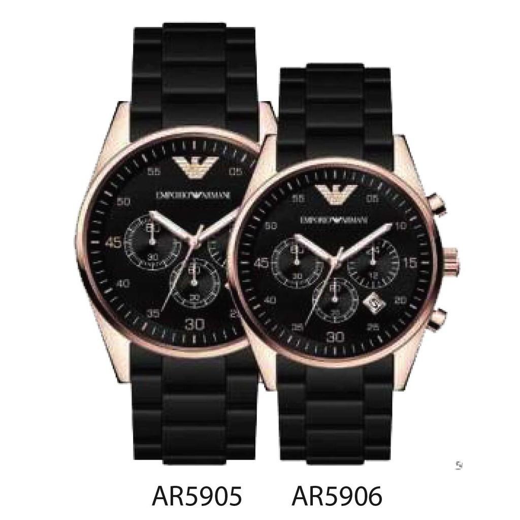 Emporio Armani นาฬิกาแบรนด์เนมแท้ 100% รุ่นสุดฮิต  มาพร้อมกล่อง  Emporio Armani Men & Women Couple watch Armani A-90
