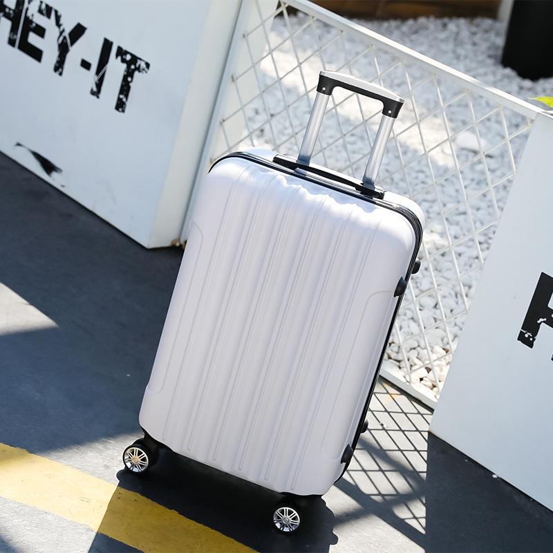 กระเป๋าเดินทางกระเป๋าเดินทางกระเป๋าหนัง 26 สําหรับผู้หญิง 24 ซอง