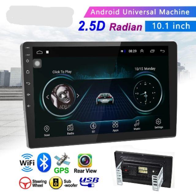 2 Din  Android 9.1 10 นิ้ว เครื่องเสียงรถยนต์ Quad Core Touch วิทยุ WIFI GPS