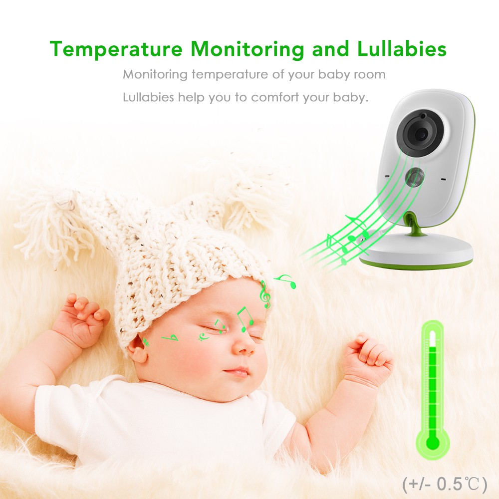 """2/"""" Video Baby Monitor Wireless Camera Night Vision Two-way Talk Viewer HS1050"""