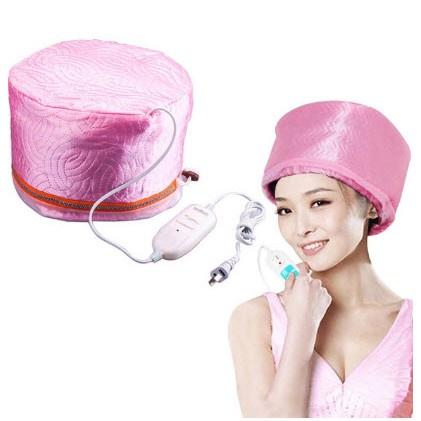 ♘✤☬(สินค้าตรงตามรูป) หมวกอบไอน้ำ บำรุงผม พร้อมอุปกรณ์ [คละสี]