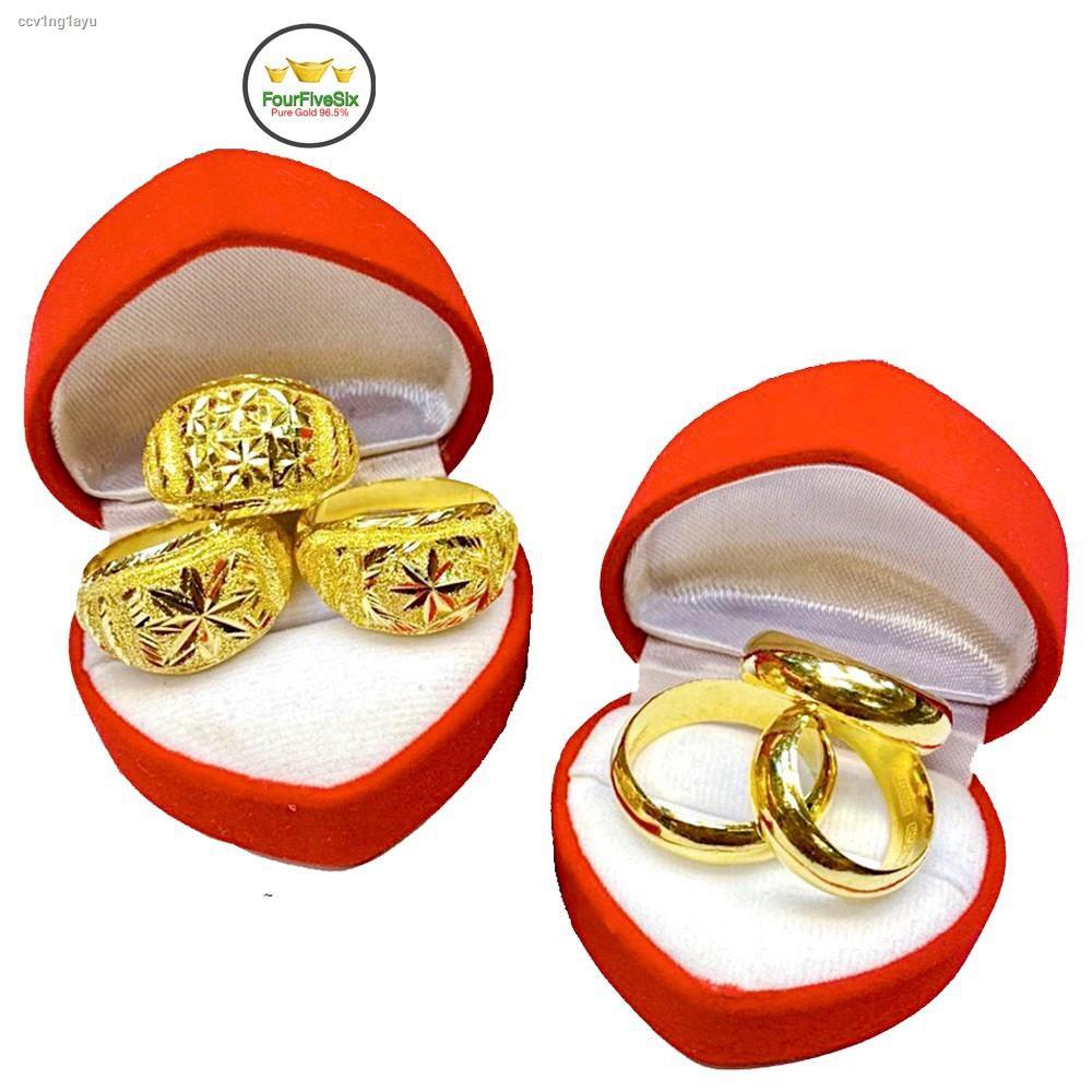 ราคาต่ำสุด❀✓FFS แหวนทอง 1 สลึง เกลี้ยงปอกมีด หนัก 3.8 กรัม ทองคำแท้96.5%
