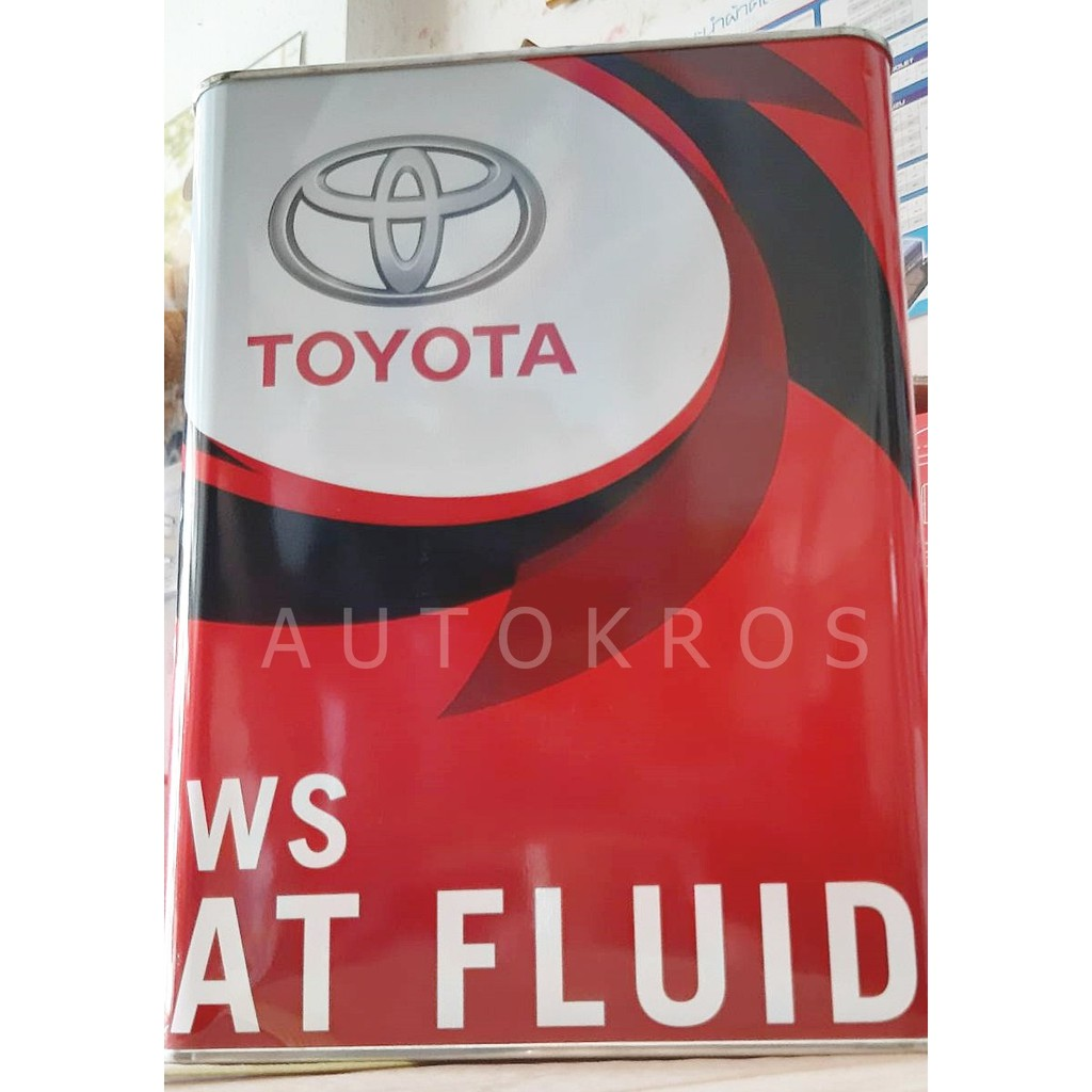 น้ำมันเกียร์อัตโนมัต TOYOTA ATF WS เหมาะสมสำหรับเกียร์ไฟฟ้ามาตรฐาน Yaris,New Vios,New Altis,New Camry / STEEL CAN JAPAN
