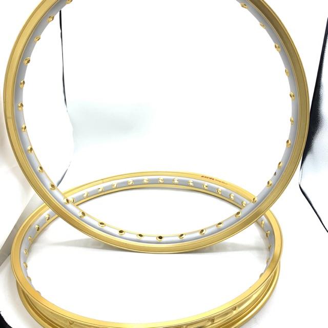 วงล้อ อลูมิเนียม EXCEL Sunstag Rim ขอบ1.2-17 เจาะตาทูโทน ทอง (ราคาพิเศษ)