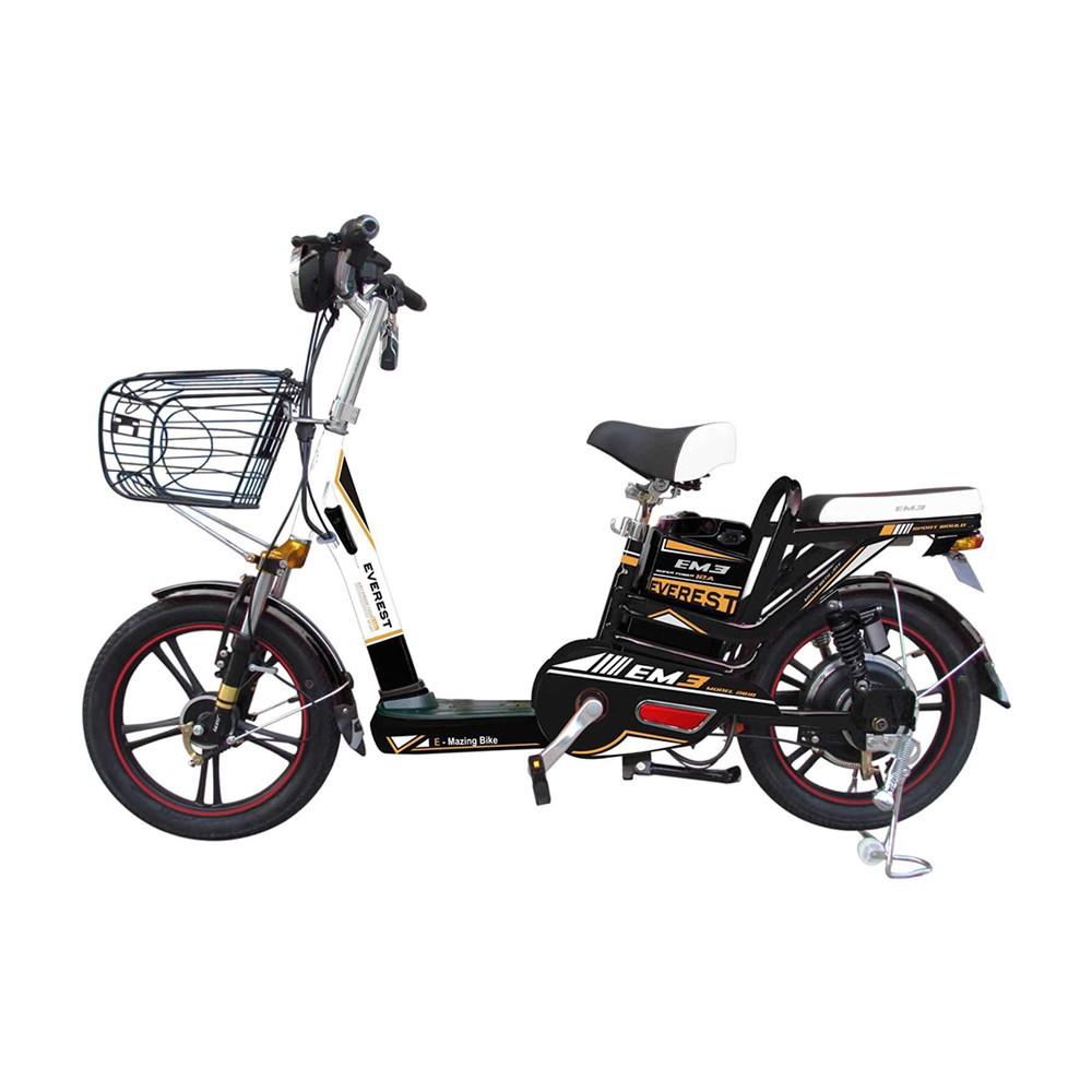 จักรยานไฟฟ้าและสกู๊ตเตอร์ รถสกูดเตอร์ไฟฟ้า EVEREST 532045502 สีดำ/ขาว จักรยาน กีฬาและฟิตเนส SCOOTER EVEREST 532045502 BL