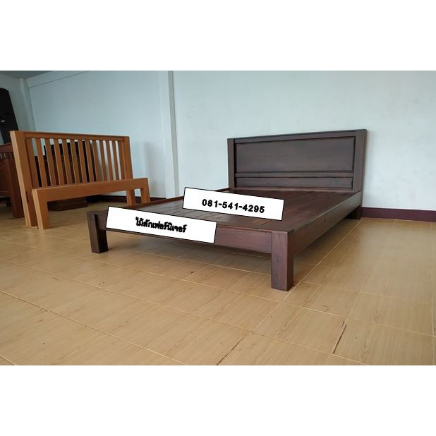 เตียงนอนไม้สักทองแก่แท้ เกรด A ขนาด 3.5,5 และ6 ฟุต พิเศษขนาด5,6ฟุตราคาเดียวกัน