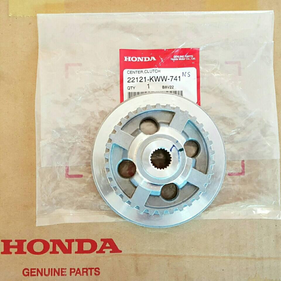 จานคลัทช์ 4รู  Honda wave110i czi สตาร์ทเท้าทุกรุ่น ของแท้ศูนย์ HONDA รหัส 22121-KWW-741