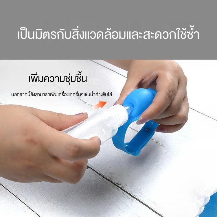 ใส่เจลล้างมือพร้อมหลอดบีบ สร้อยข้อมือเจลล้างมือสำหรับเด็ก, สายรัดข้อมือซิลิโคนฆ่าเชื้อแบบพกพาสำหรับนักเรียนป้องกันสร้อยข