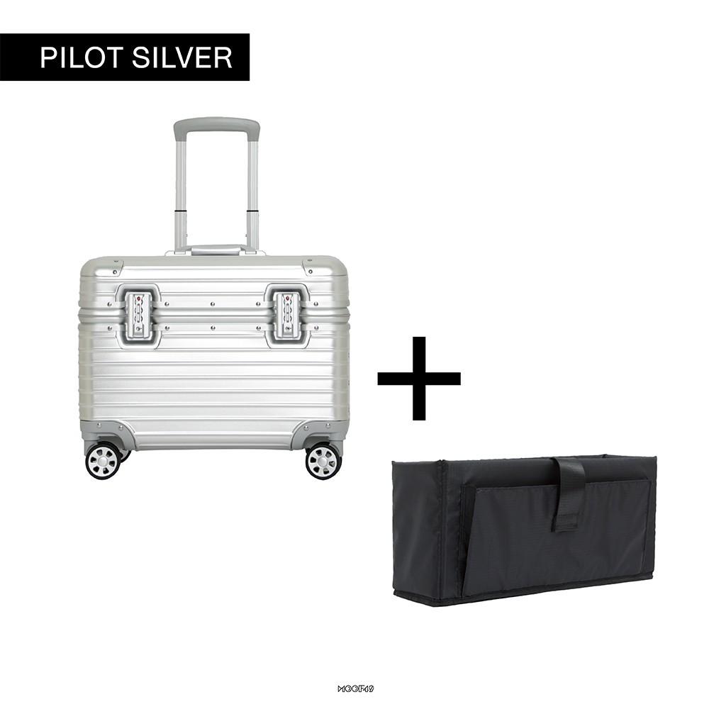 """กระเป๋าเดินทางล้อลาก Luggage Pilot Aluminium 15"""" +camera case กระเป๋าล้อลาก กระเป๋าเดินทางล้อลาก"""