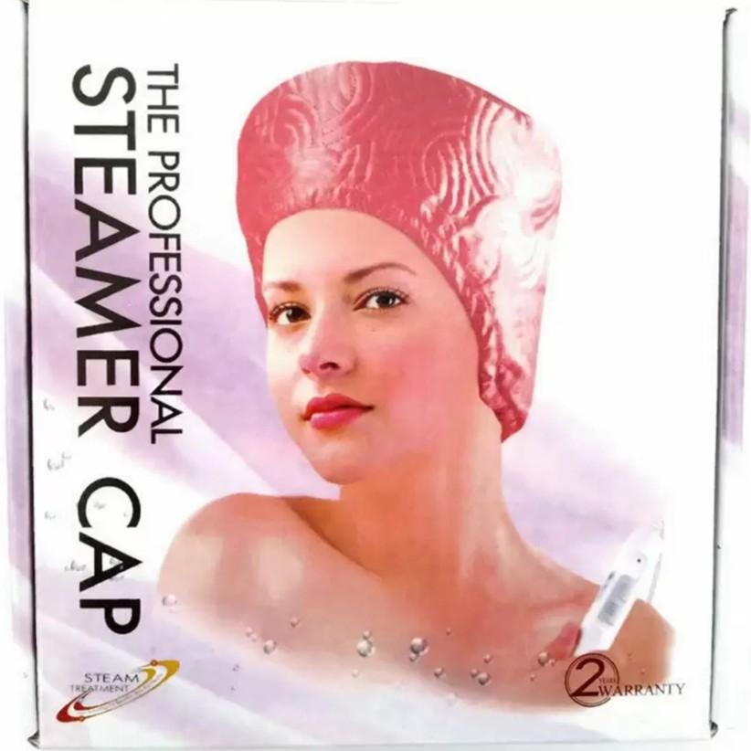 หมวกอบไอน้ำ หมวกอบไอน้ำด้วยตัวเอง ไฟฟ้า ผมนุ่มลื่น สวย ง่ายนิดเดียว (สีชมพู)