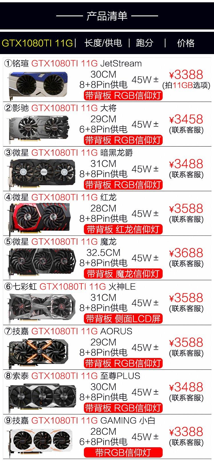 อินเทอร์เน็ตคาเฟ่ถอด GTX1080 8G 1080TI 11G คอมพิวเตอร์กราฟิกอิสระกินไก่เกมมือสองNการ์ด