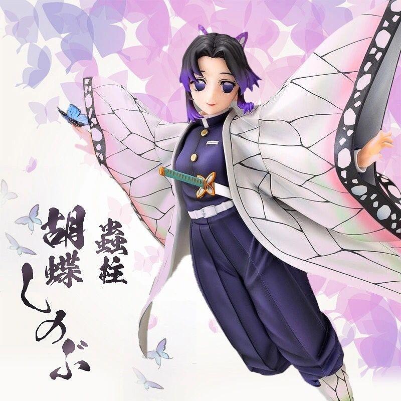 ตุ๊กตาการ์ตูน   Anime Demon Slayer Kochou Shinobu Anime Action Figure Kochou Shinobu Figure VC Model Doll Collection Kid