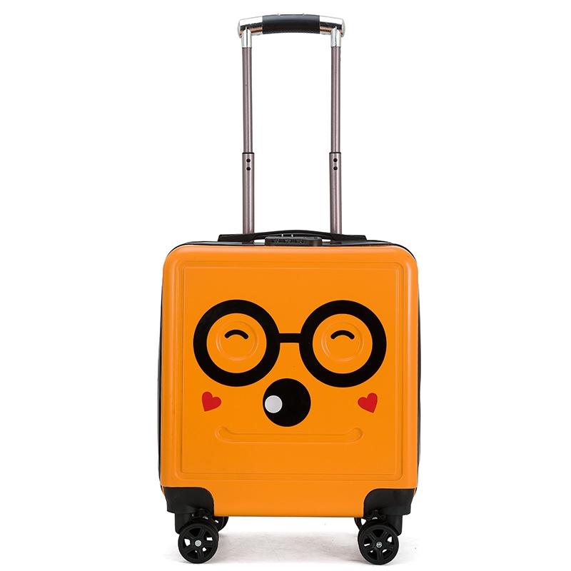 กระเป๋าเดินทางลายการ์ตูนมีล้อล็อค 18 นิ้ว