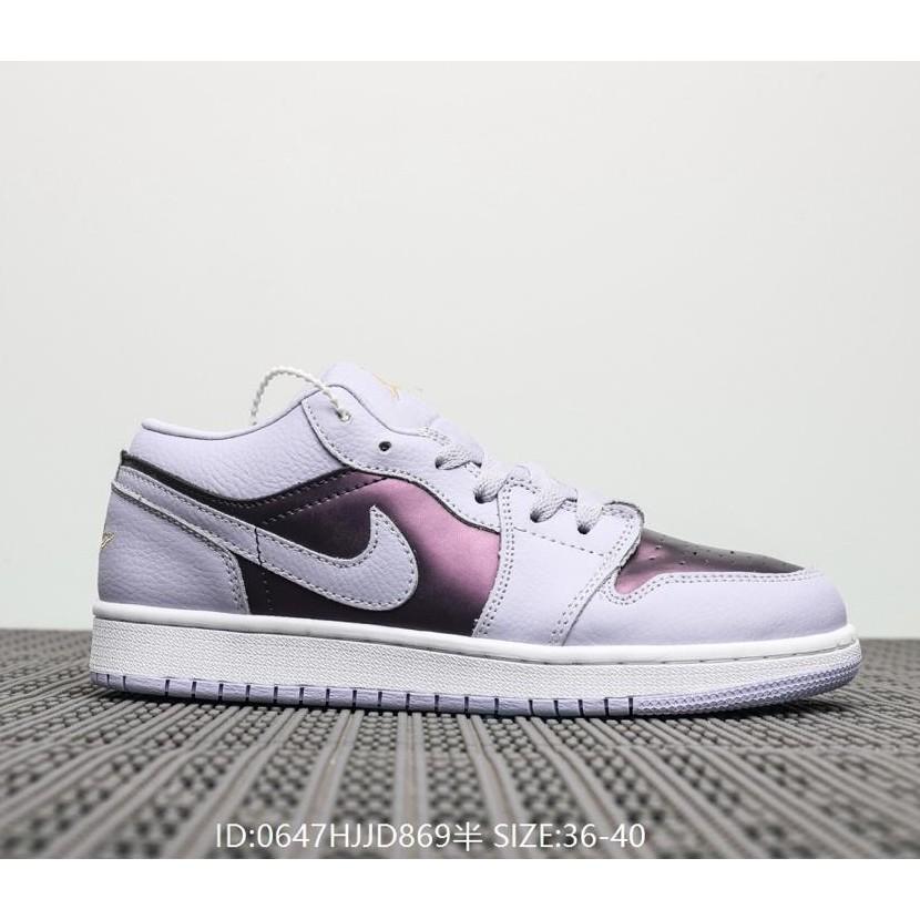 cheapest wholesale online retail prices nike air jordan 1 low aj 1 creed รองเท้ากีฬาแฟชั่นสีม่วง