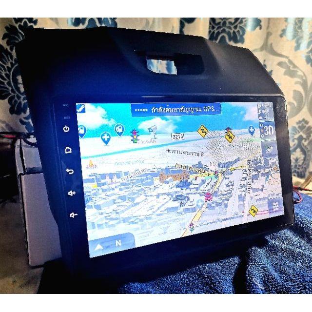 จอตรงรุ่น New-Dmax ขนาด 9นิ้ว ระบบ Android แท้แบ่ง2จอได้ free app GPS พร้อมอัพเดทให้ตลอดอายุเครื่อง