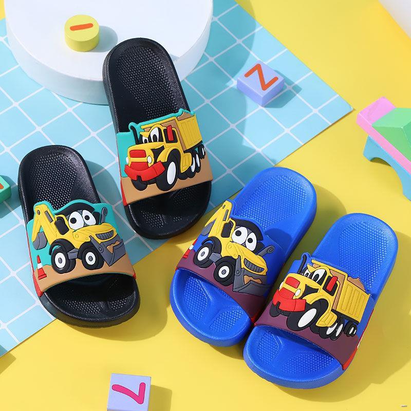 ยางยืดออกกําลังกาย✲☜(รองเท้าเด็ก รองเท้าแตะเด็ก)  รถบรรทุกเคลื่อนย้ายดิน, รถวิศวกรรม, รองเท้าแตะสำหรับเด็ก, รองเท้าแตะแ