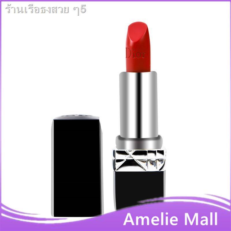 ☂♨DIOR Lipstick Intense Blue Gold ลิปสติก 999 Matte and ขนาดตัวอย่าง Lacquer 1.5G ลิปบาล์ม