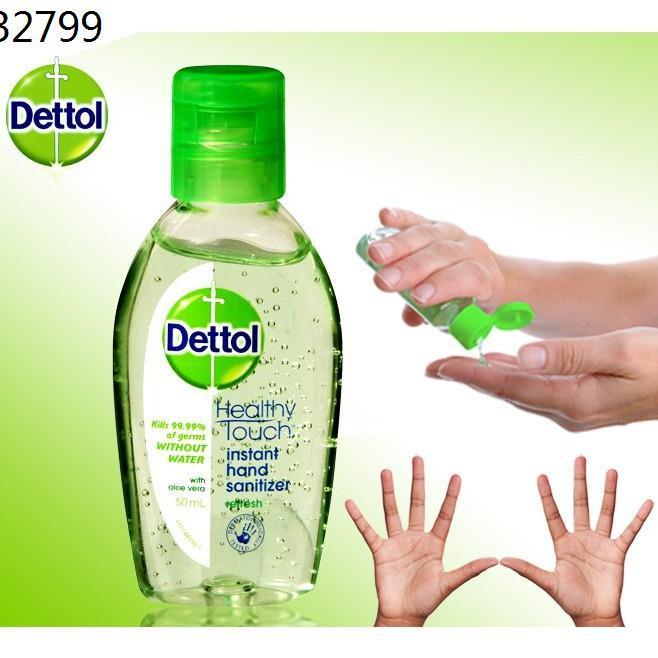 dettol เดทตอล ❥💢มีของพร้อมส่ง 💢 เจลล้างมือ Dettol ขวดพกพา ขนาด 50ml /ทิชชู่เปียกแพ็ค 10 แผ่น♠