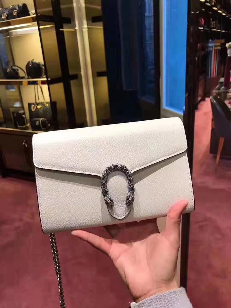 ซื้อGucci/Gucci Dionysusสีที่บริสุทธิ์หัวเสือหัวเข็มขัดกระเป๋าแบคคัสWOCพลิกไหล่ของMessengerห่วงโซ่กระเป๋าหญิง 4our