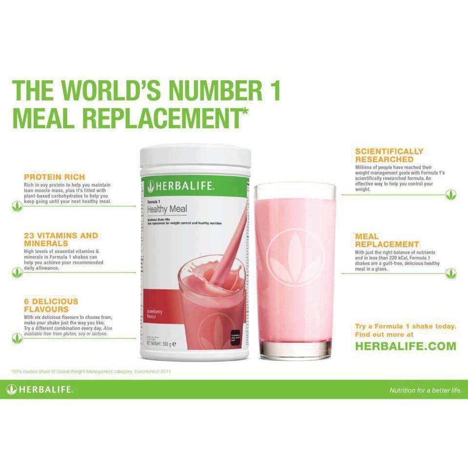 Efectos secundarios herbalife formula 1 shake