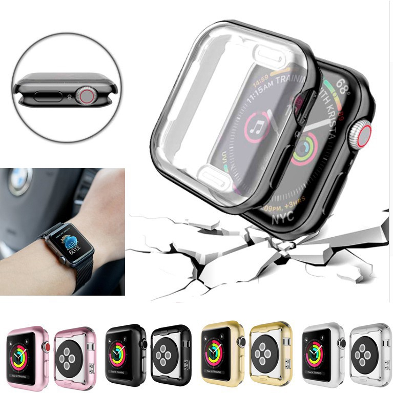 Apple Watch 38mm 40mm 42mm 44mm Screen Protective Case iWatch 5 4 40MM 44MM Watch Protector Cover