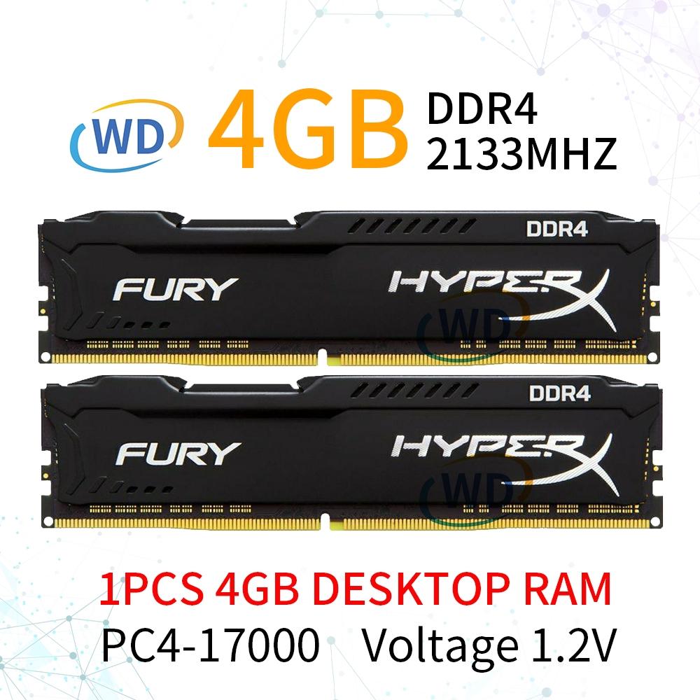 For HyperX Fury 8GB 2 x 4GB DDR4 2133MHz PC4-17000 CL14 PC Memory Desktop RAM
