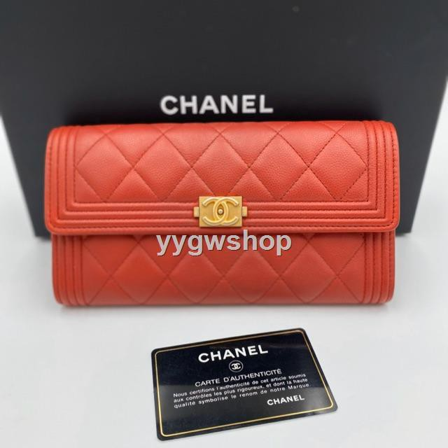 Like new chanel boy  sarah wallet holo 24 ❤️กระเป๋า กระเป๋าสตางค์
