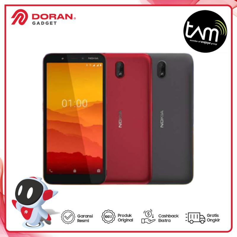 Handphone Nokia C1 1/16GB - Garansi Resmi TAM 1