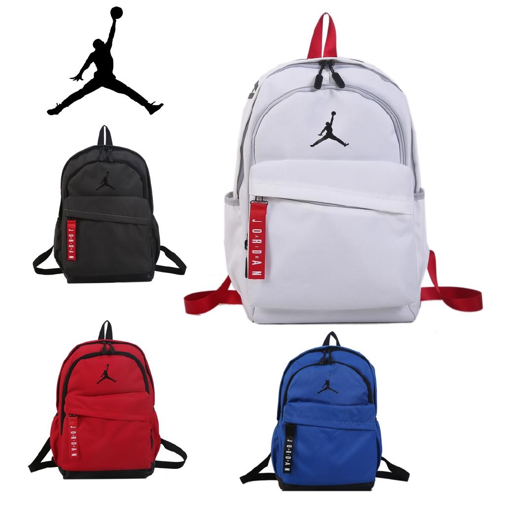 Nike Jordan กระเป๋าเป้สะพายหลัง AJ แท้บินคนจอร์แดนกีฬากระเป๋าเป้สะพายหลังกระเป๋าเดินทาง