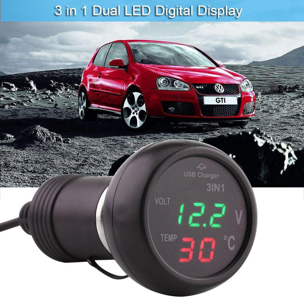 Car Motor LED DC Digital Display Voltmeter Panel Waterproof