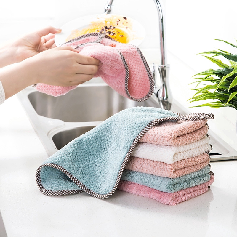 Super Absorbent Cleaning Towel Wipe Household Microfiber Dish Towel Kitchen Tool