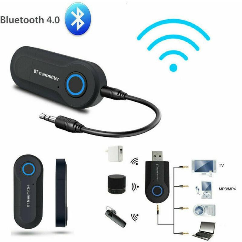 Wireless Bluetooth Transmitter Stereo Music Audio Adapter 3.5mm For TV PC MY