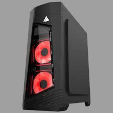 AZZA Mid Tower Tempered Glass RGB Gaming Computer Case Blaze 231G – Black