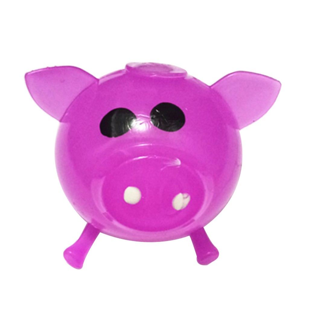 Jello Pig Stress Reliever Splat Water Pig Toy Venting Smash water Ball Figet