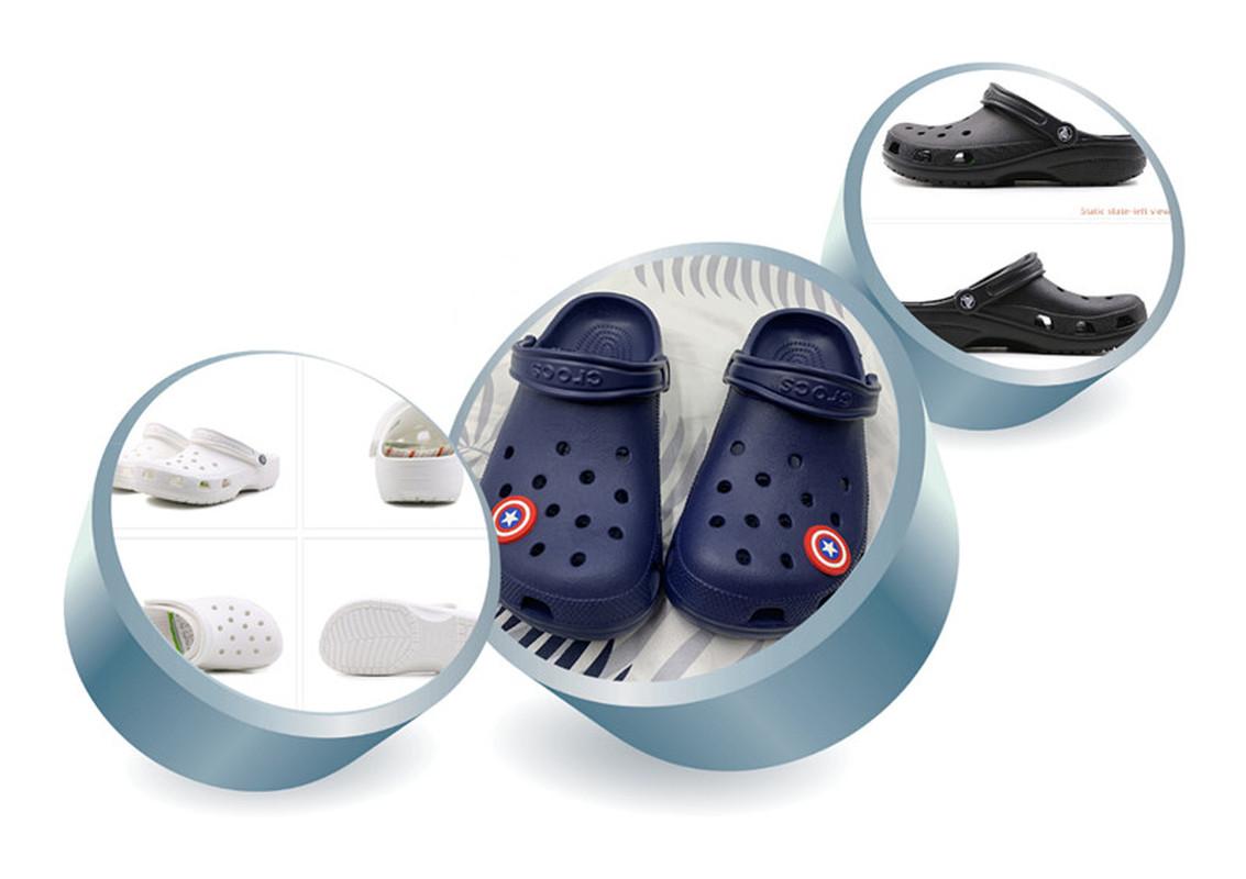 CROCS ของแท้ 100% ชายหาดพลาสติกน้ำหนักเบาคู่รองเท้ารองเท้าแตะฤดูร้อนกลางแจ้งกันน้ำ