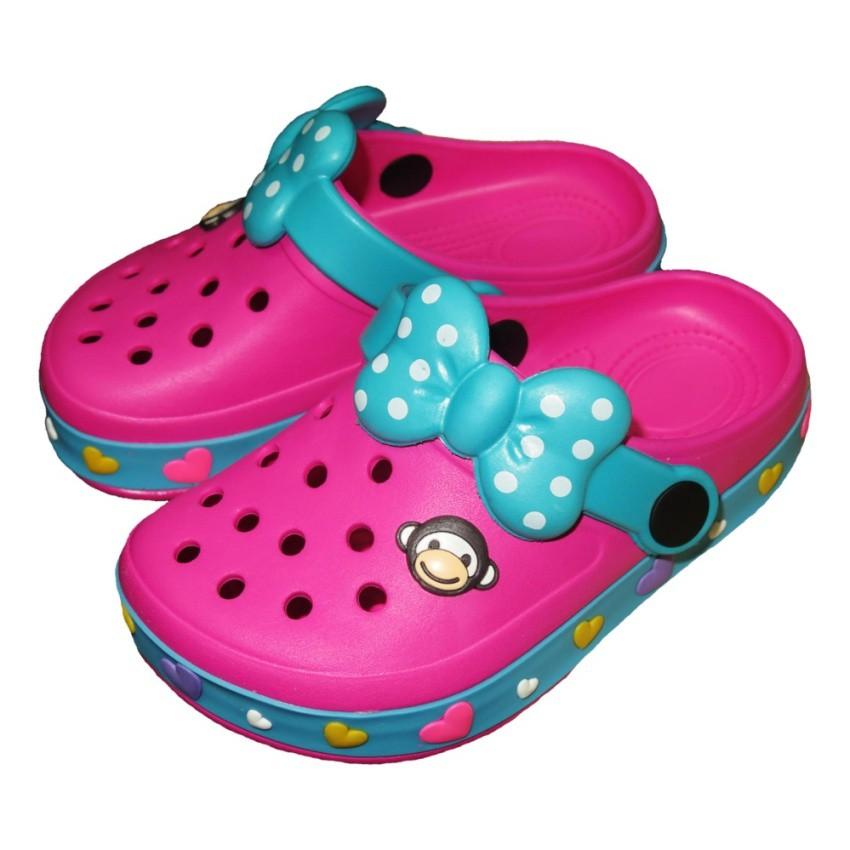 รองเท้าแตะ Prado Gang รองเท้าคัชชู ไฟล่อน สวม เด็กผู้หญิง รุ่น 373 - สี บานเย็น