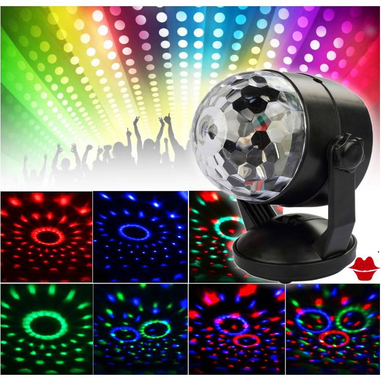 🎀🎀🎀 3W มินิ RGB ไฟเวที LED ดิสโก้บอลผับปาร์ตี้ดิสโก้ไฟเลเซอร์พร้อมรีโมทควบคุมดีเจ